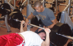 bench press with spotter